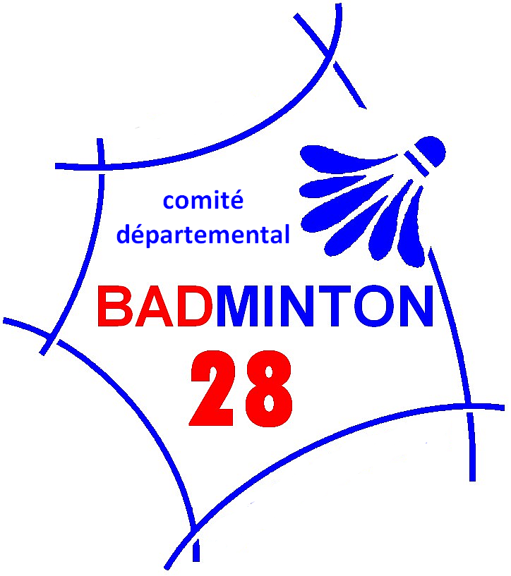logo comité départemental badminton d'Eure et Loire (28)